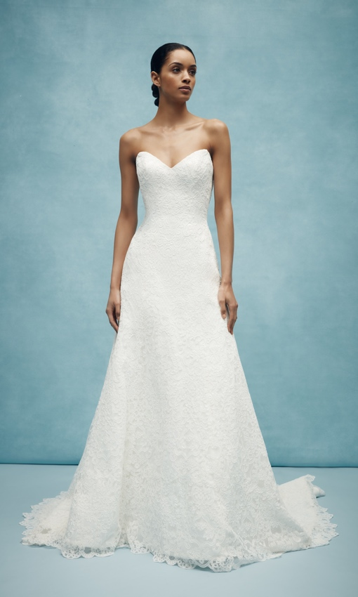 anne barge sweetheart aline baroque lace gown