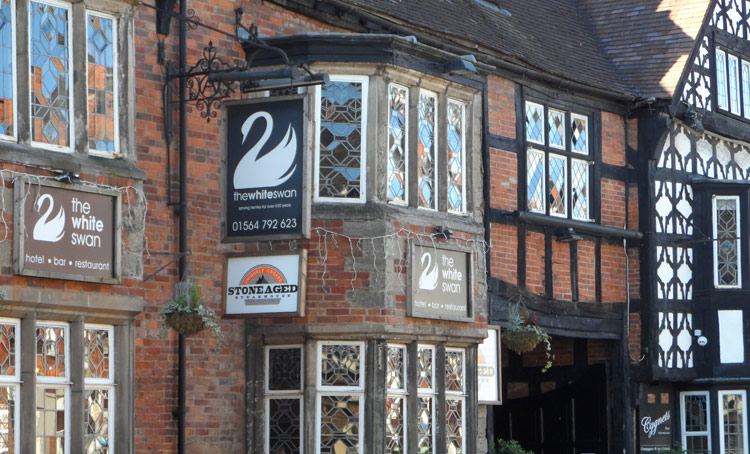 The White Swan Hotel is mentioned in William Shenstone poem