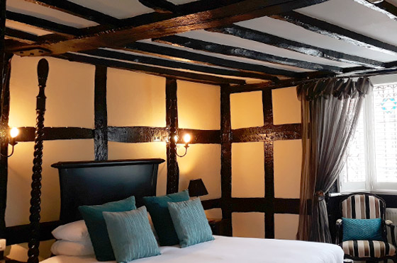 Hotel rooms at the White Swan Hotel in Henley