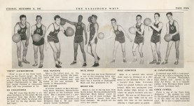 An article was published on Dec. 11, 1951 in the Whit regarding Glassboro State's basketball stars. -Photo from university archives