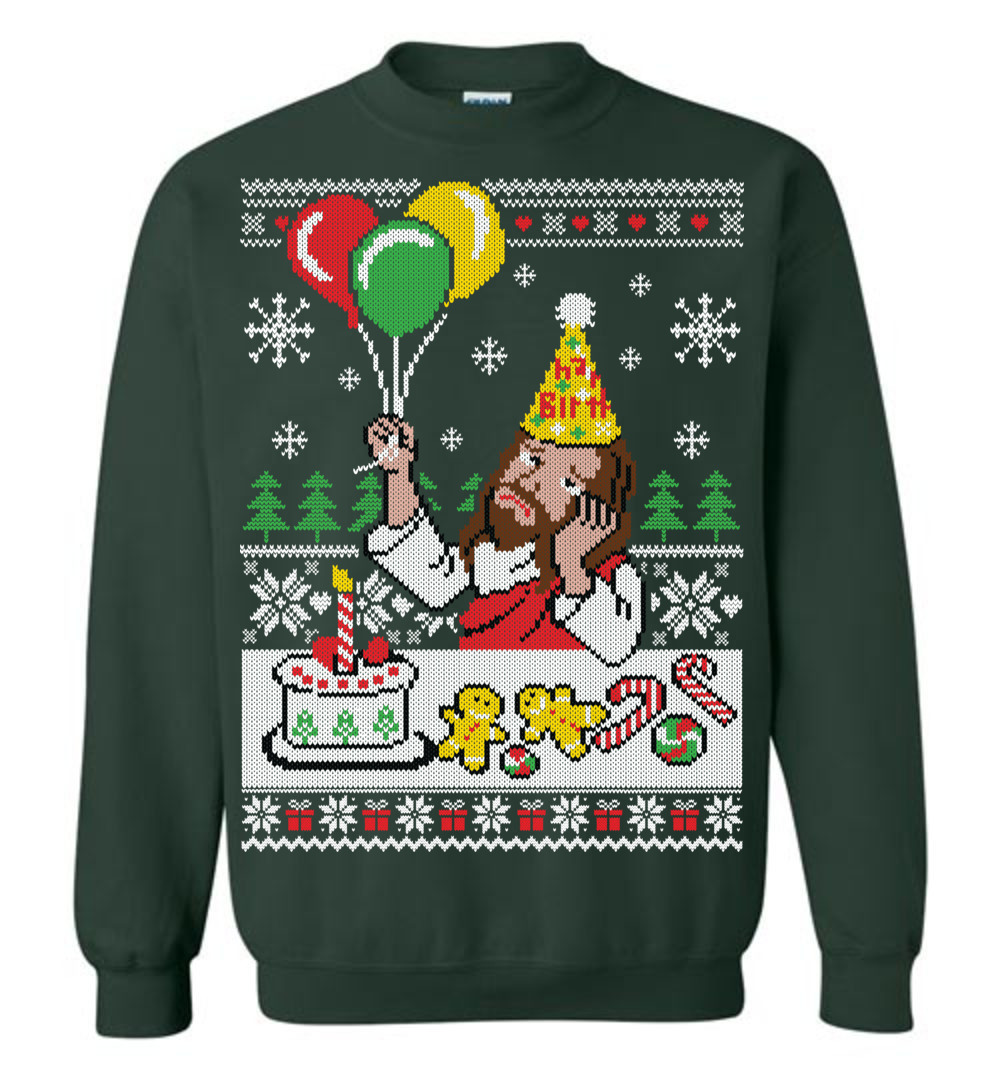 4624f468eb Happy Birthday Jesus Ugly Christmas Sweater - The Wholesale T-Shirt Co.