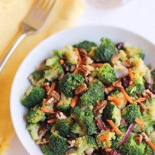 Broccoli Salad With Miso Sesame Dressing