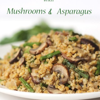 Freekeh with Mushrooms and Asparagus