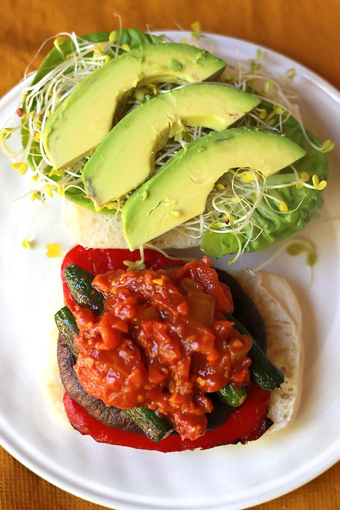Open-Roasted-Veggie-Sandwich