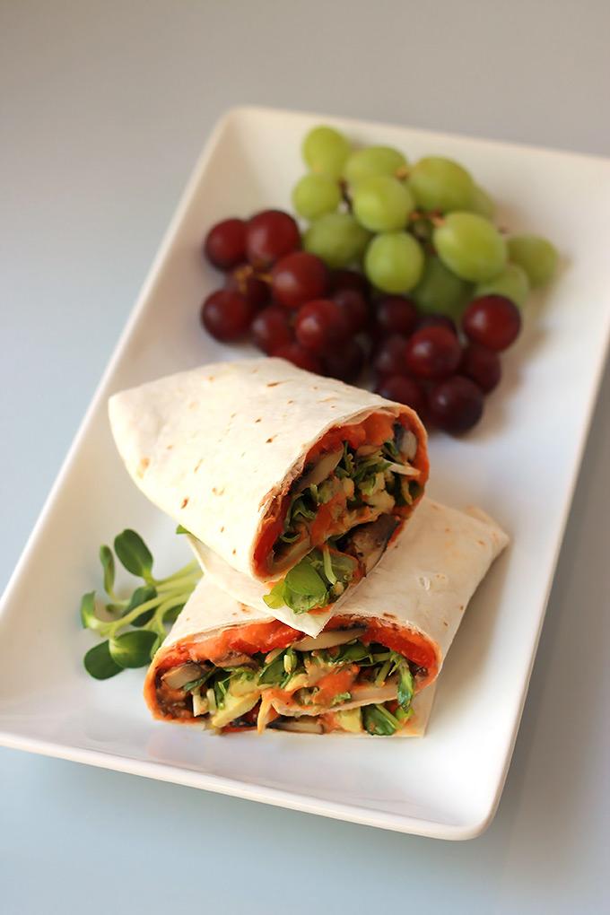 Roasted-Red-Pepper-Veggie-Wrap