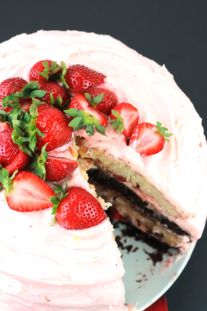 Above-Black-&-White-Strawberry-Lemon-Cake