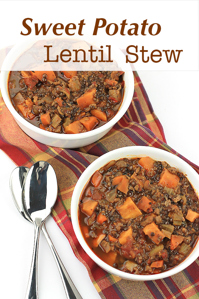 Sweet Potato, lentils, and MorningStar Farms meal starters crumbles make this stew perfect for those cold weather days.