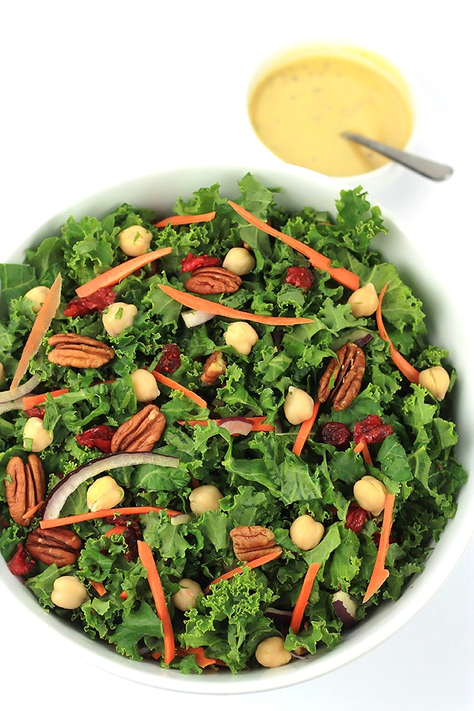 Recharge and power up with this nutrient packed Chopped Kale Salad. It's a perfect stand alone meal or side salad.