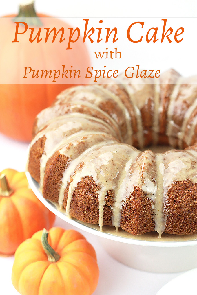 Serve them cake, Pumpkin Cake with Pumpkin Spice Glaze. It's sweet, moist, decadent and oh so easy to make.