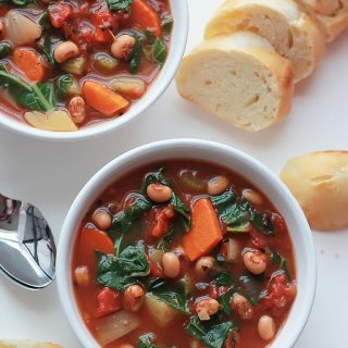 Black-Eyed Pea and Collard Soup
