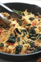 Simple, easy, full of flavor and ready in minutes. This Kale Mushroom Capellini will satisfy everyone at the dinner table.