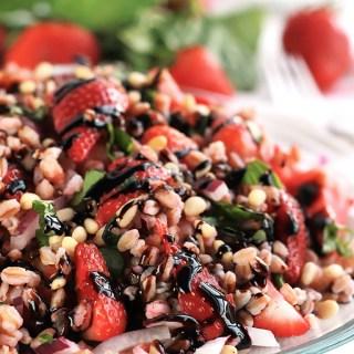Strawberry Basil Farro Salad