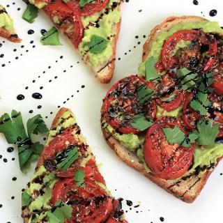 Roasted Tomato Avocado Toast