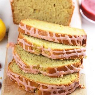Lemon Loaf with Raspberry Sauce