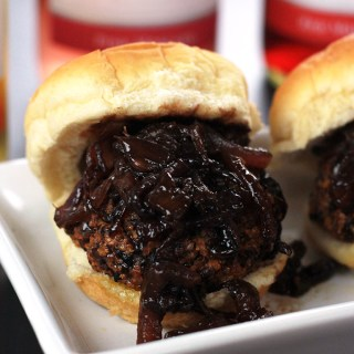 Veggie Sliders with Balsamic Caramelized Onions