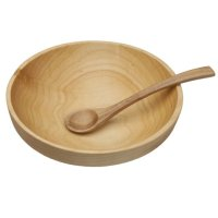 Wood Bowl and Spoon