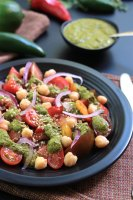 This Cilantro Chutney is a bold and spicy Indian condiment perfect for sandwiches, snacks and so much more. Have fun exploring the possibilities.