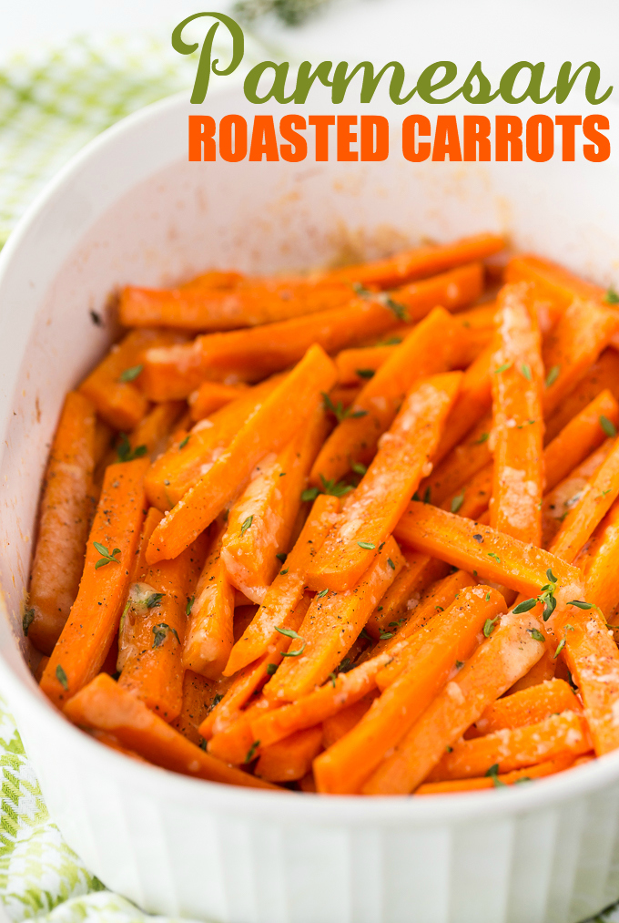 Happy Friday, I've got a delicious carrot recipe for you and our Pretty Pintastic Party #128. This week I am loving this Parmesan Roasted Carrot recipe from Simply Stacie, this one will be on my