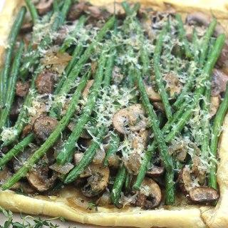 Black Friday Brunch-Easy Mushroom Green Bean Tart