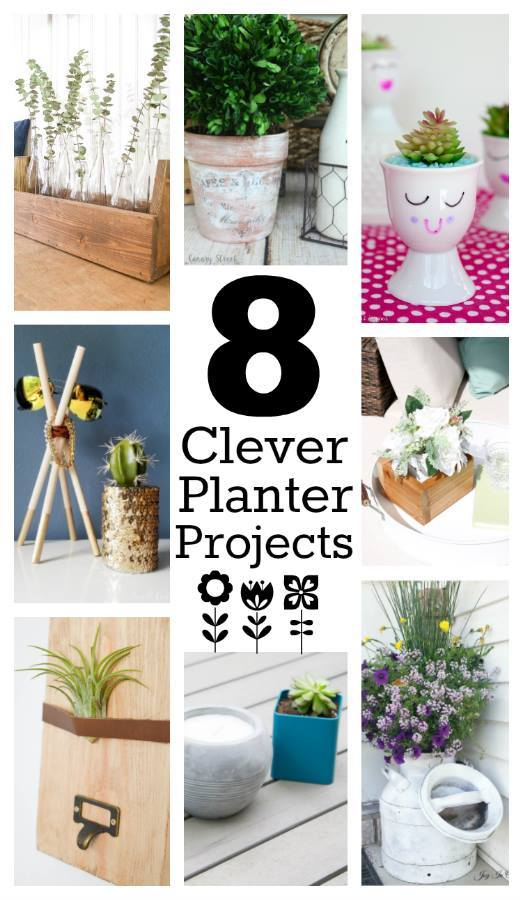 Welcome to Pretty Pintastic Party #158 & 8 Clever Planter Projects, my favorite from last week's party.