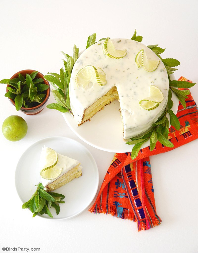 Welcome to Pretty Pintastic #155 & a Beautiful Mojito Cake which is my favorite from last weeks party. This Mexican inspired cake from Bird's Party is perfect for a Cinco de Mayo or summer celebration.