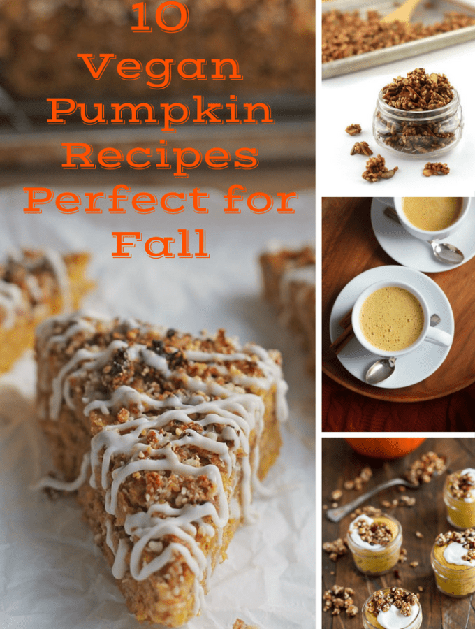Pumpkin season is in full swing, so here are 10 Vegan Pumpkin Recipes that are perfect for Fall.