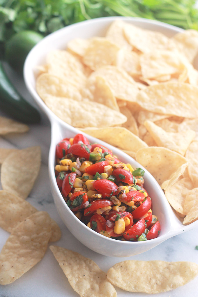 Fire-Roasted Corn Pico Style Salsa with Chips