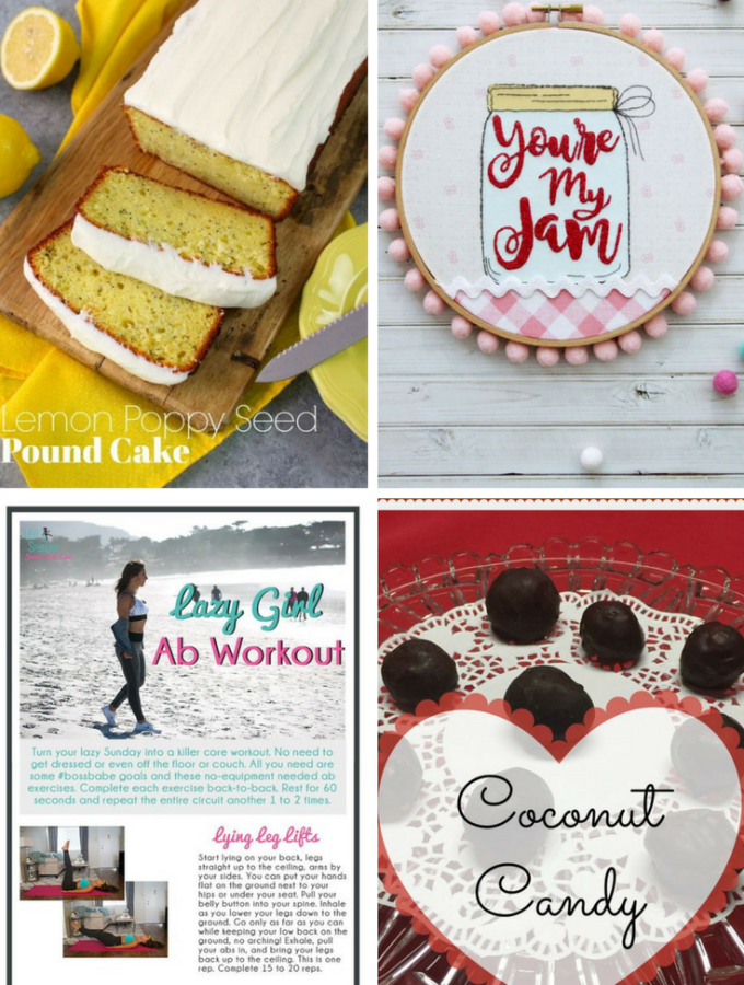 Welcome to Pretty Pintastic Party #196 & the Weekly Features. I hope you had a sweet Valentine's Day and you're ready for the party. Our features this week are DIY recipes, craft, and a Lazy Girls Ab workout to help burn off the Valentine sweets.