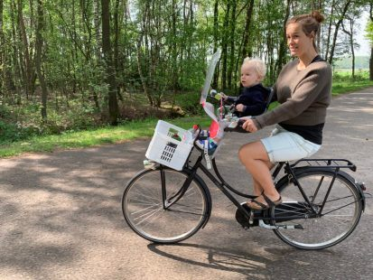 Biking with mom