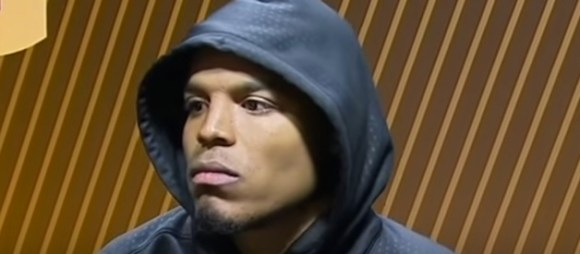 cam newton leaves press conference