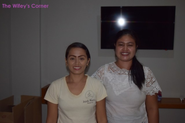 Miss Sony (left) and her theraphist