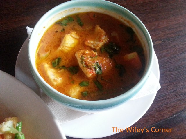 Close up of the fish stew