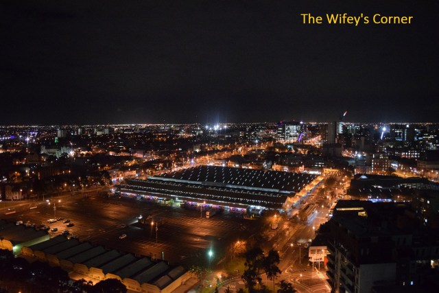 The beautiful view at night - overlooking Queen Victoria Market and northern area
