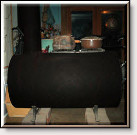 Our Real Wood Burning Stove!