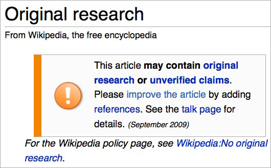 wikipedia-original-research