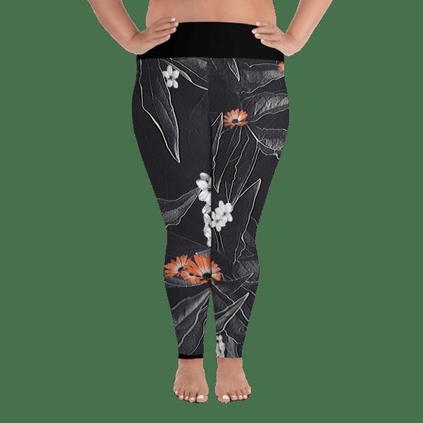 Dark Floral Plus Size Leggings
