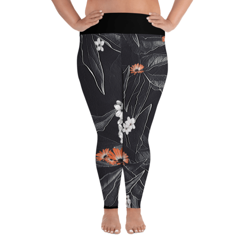 Dark Plus Size Yoga Leggings
