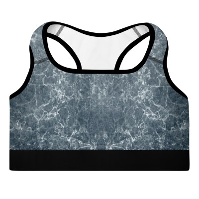Grey Marble Sports Bra