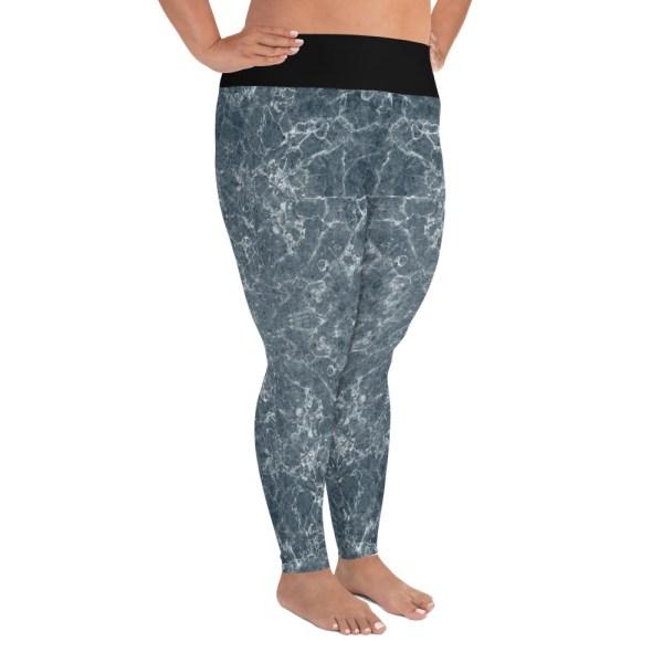 grey marble plus size leggings