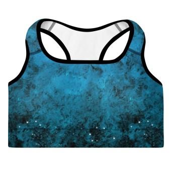 Dark Blue Sky Yoga Bra