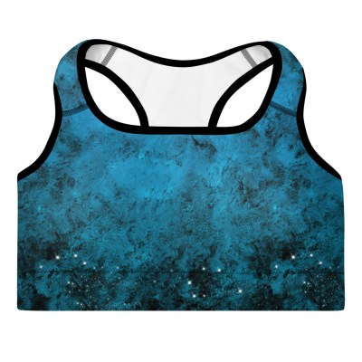 Dark Blue Sky Yoga Bra