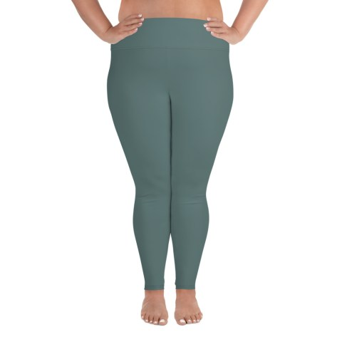 Dusky Green Plus Size Leggings