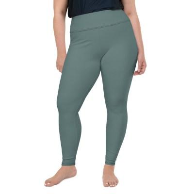 Dusky Green Plus Size Leggings