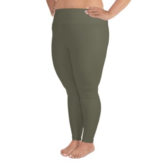 Khaki Plus Size Leggings