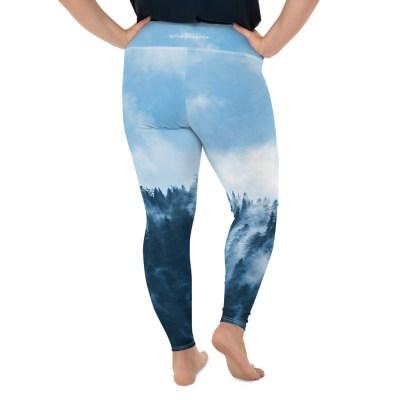 Plus Size Nature Yoga Leggings