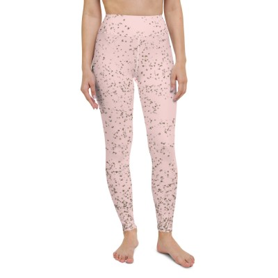 Pink Golden Yoga Leggings