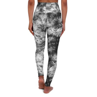 Black White Tie Dye Leggings
