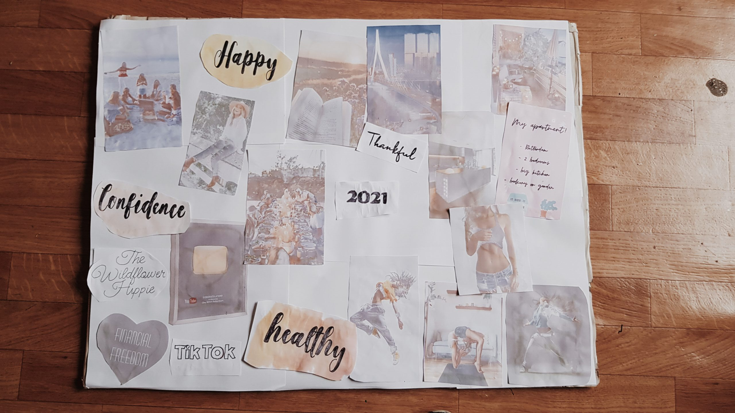 my vision board for 2021