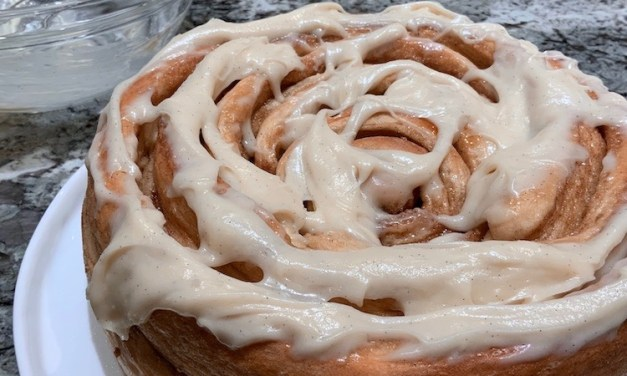 Colossal Cinnamon Roll with Cream Cheese Frosting