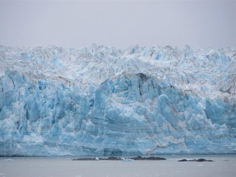 Closeup of Hubbard Glacier